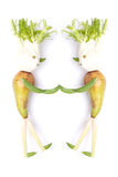 Personnes de fruits et légumes faisant la poignée de main image stock