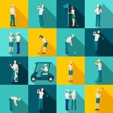 Personnes de golf plates illustration stock