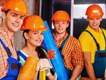 Personnes de groupe dans l'uniforme de constructeur Photo libre de droits