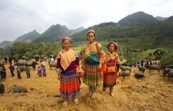 Personnes de Hmong de fleur Photo stock