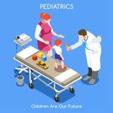 Personnes de l'hôpital 11 isométriques illustration libre de droits