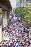 Personnes de la protestation de la Thaïlande contre la corruption gouvernementale. Images stock