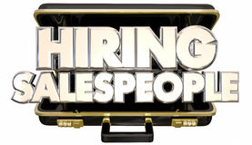Personnes de location Job Help Wanted Briefcase de ventes Images stock