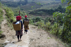 Personnes de minorité dans Vientam Images libres de droits