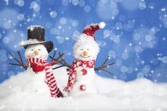 Personnes de neige de Noël images stock