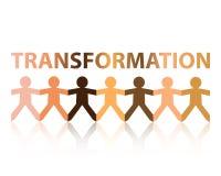 Personnes de papier de transformation Photos libres de droits