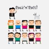Personnes de pixel Photographie stock libre de droits