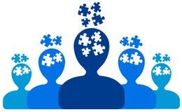 Personnes de puzzle Photos libres de droits