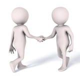 Personnes de réunion de poignée de main Image libre de droits