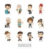 Personnes de voyageur Images libres de droits