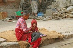 Personnes du Népal Photographie stock libre de droits