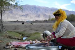 Personnes du Tadjikistan épousant, Tashkurgan le Xinjiang ch photos libres de droits