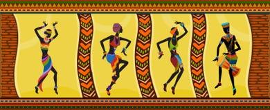 Personnes ethniques d'Africain de danse Photo stock