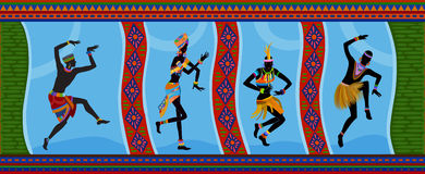 Personnes ethniques d'Africain de danse Image stock