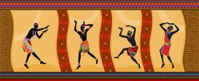 Personnes ethniques d'Africain de danse Image libre de droits