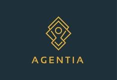 Personnes Logo Template Design Vector, emblème, concept de construction, symbole créatif, icône de monogramme Images libres de droits