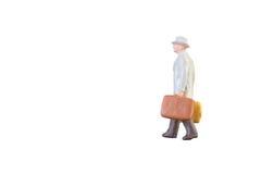 Personnes miniatures d'homme d'affaires et de touriste Images libres de droits