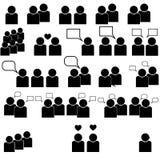 Personnes noires d'icônes - ensemble Images stock
