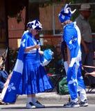 Personnes non identifiées célébrant des vacances nationales du ` s du Québec Image libre de droits