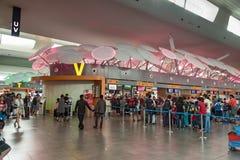Personnes non identifiées en Kuala Lumpur International Airport 2 Photographie stock libre de droits
