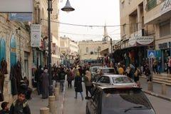 Personnes palestiniennes dans la rue à Bethlehem photo libre de droits