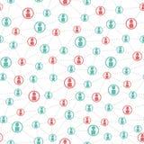 Personnes reliées et modèle social de réseau Images stock