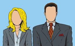 Personnes sans visage Images libres de droits