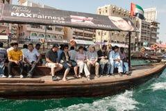 Personnes tansporting de taxi de l'eau Photo libre de droits