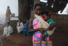 Personnes tribales en Inde images stock