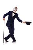 Personnification de Charlie Chaplin Images libres de droits