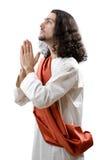 Personnification de Jésus-Christ d'isolement Photos libres de droits