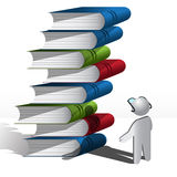 Persons and books Stock Images