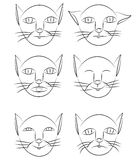 Persons cats Royalty Free Stock Image