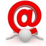 Persons with email. Isolated on white background Stock Photo