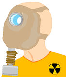 Persons in gas mask. Head of the person in gas mask on white background is insulated Royalty Free Stock Image