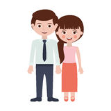 Persons with hands entwined. Vector illustration Stock Photo