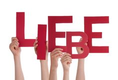 Persons Holding Liebe Stock Images