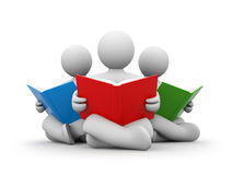 Persons Read The Book Stock Images