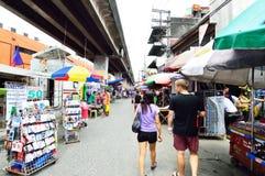 Persons shopping at Baclaran market, Manila Royalty Free Stock Photo