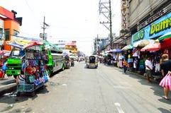 Persons shopping at Baclaran market, Manila Royalty Free Stock Image