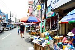 Persons shopping at Baclaran market, Manila Stock Photography
