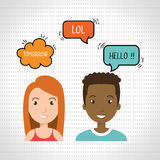 persons talk speech chat bubble Stock Images