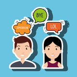 persons talk speech chat bubble Royalty Free Stock Photos