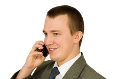 Persons with telephone Royalty Free Stock Images