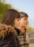 persontonåringar två Royaltyfri Fotografi