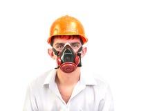 Persoon in beschermend masker royalty-vrije stock afbeeldingen