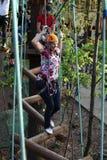 Persoon bij Luchtavonturenpark Stock Afbeelding