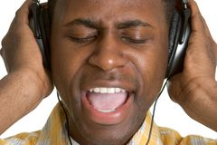 Persoon die aan Muziek luistert royalty-vrije stock afbeeldingen