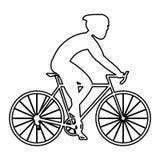 Persoon die een fiets berijdt Royalty-vrije Stock Foto