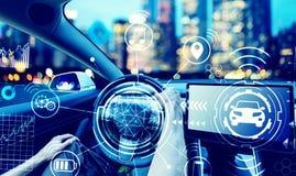 Persoon die een nieuw elektrisch voertuig drijven royalty-vrije stock afbeelding